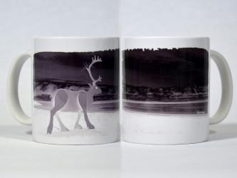 White Reindeer Mug