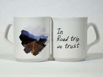 In Road trip we trust Mug