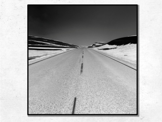 The Road, Norway - Photo Print 50x50