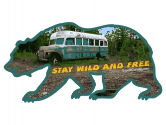 Sticker Stay Wild and Free