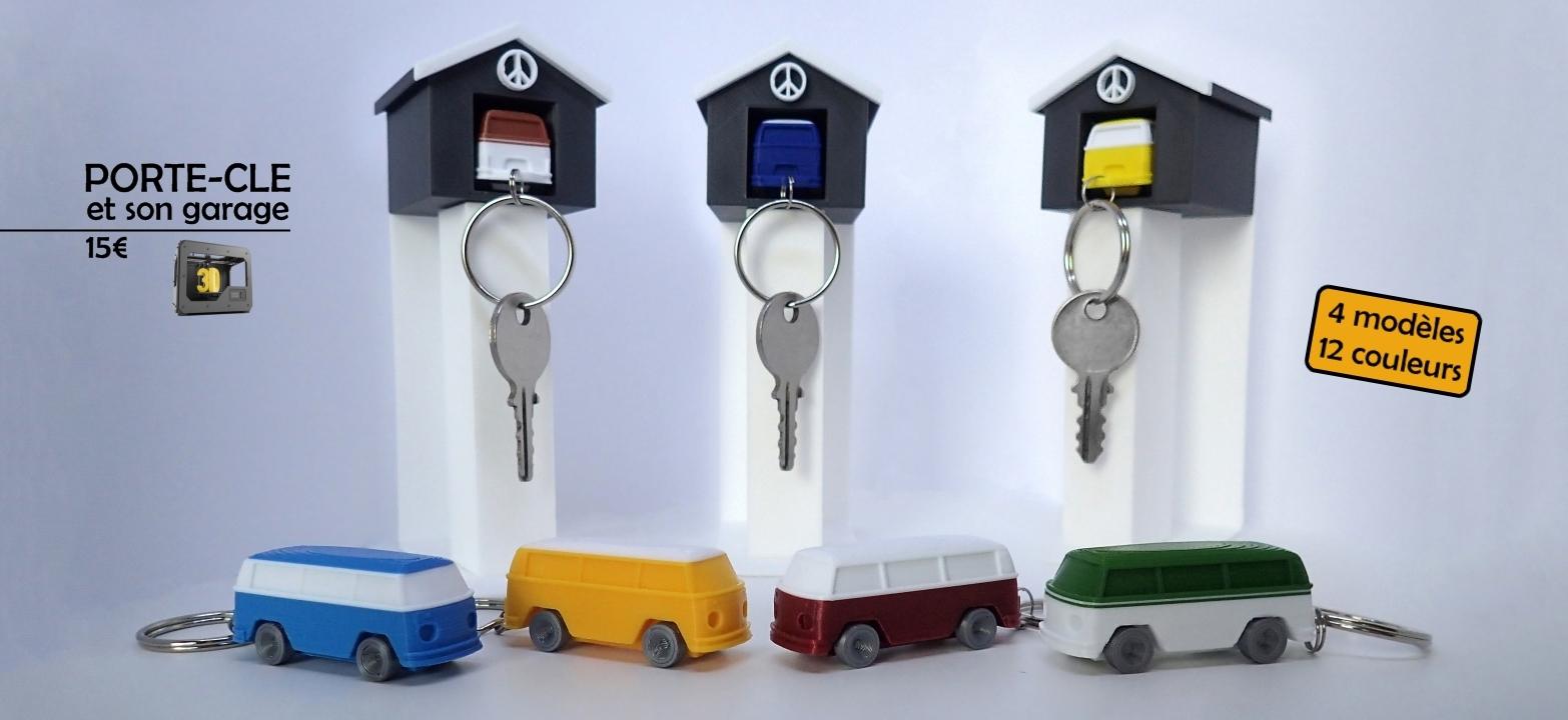 Porte-clé imprimé en 3D par EspritCombi.com